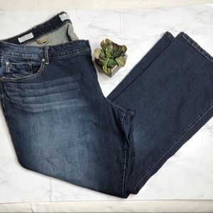 Torrid relaxed bootcut jeans, back pocket detail